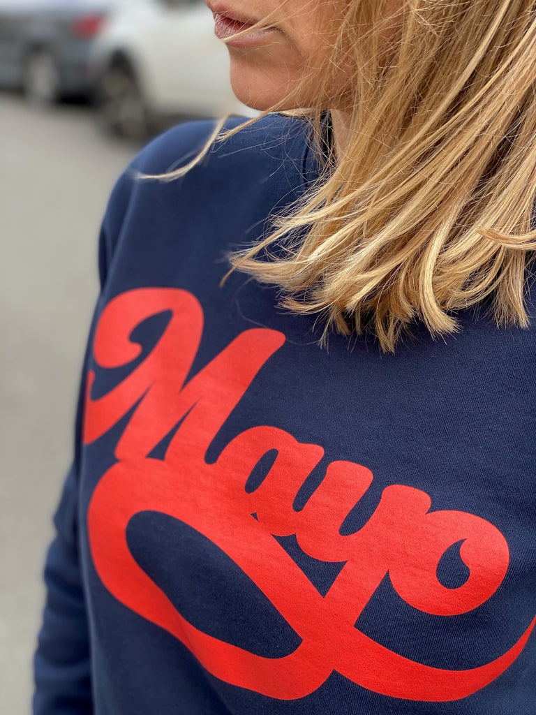 Sweatshirt crew neck MAYO navy