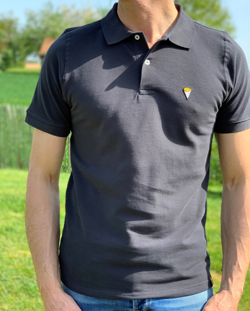 Polo short sleeves DARK GREY