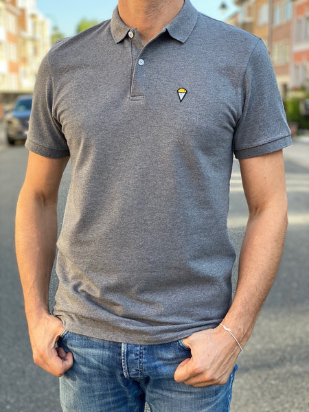 Polo short sleeves GREY MELANGE