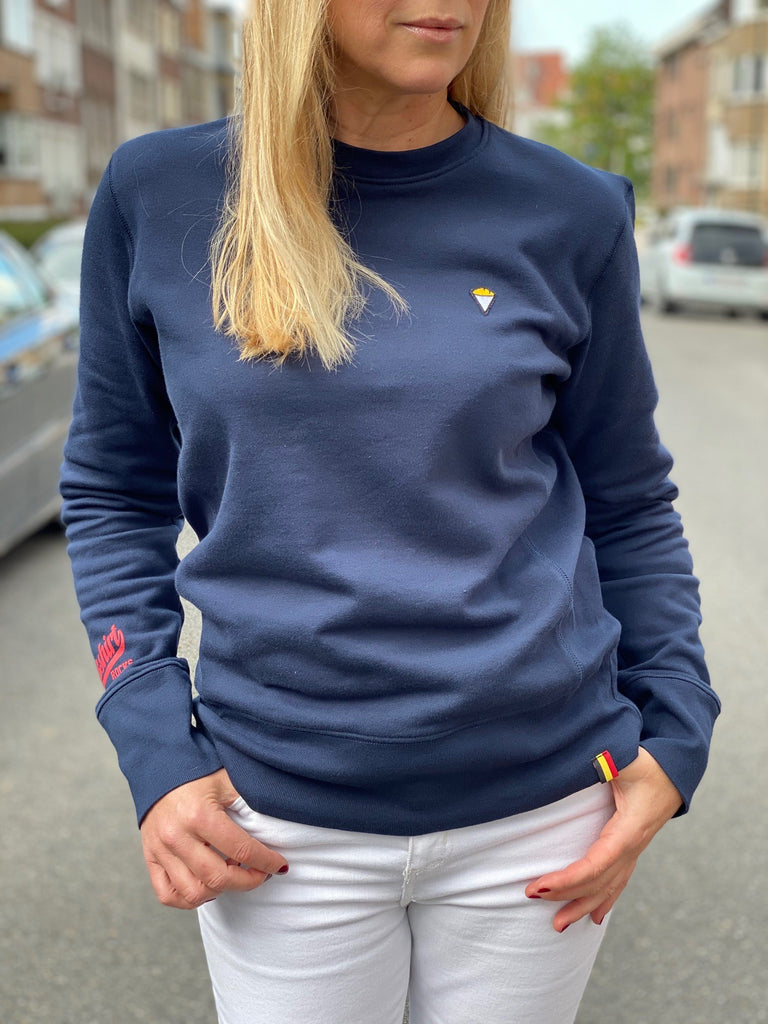 Sweatshirt crew neck FRITES navy