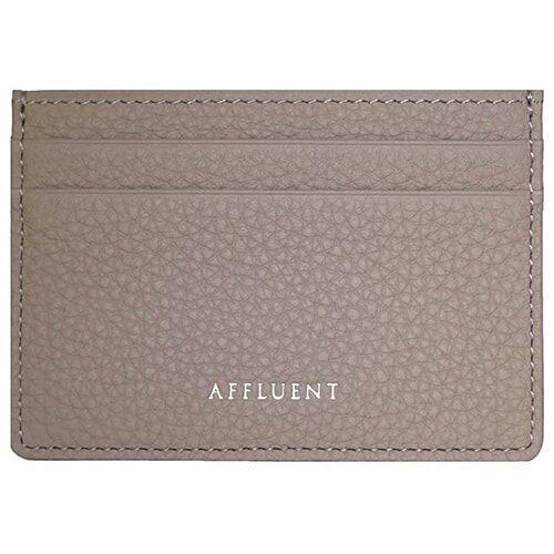 Card Holder - AFFLUENT Grey Grained Leather Card Holder