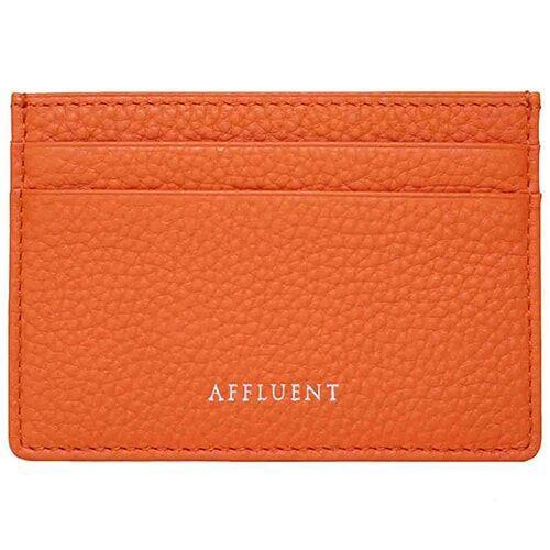 Card Holder - AFFLUENT Orange Grained Leather Card Holder