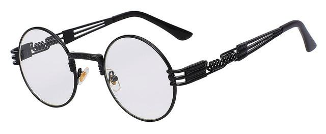 "Eyewear - ""Vintage"" Retro Sunglasses (Black/Clear)"