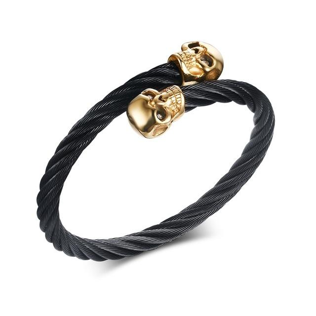 """Lively"" Twisted Wire Cable Cuff Bracelet"