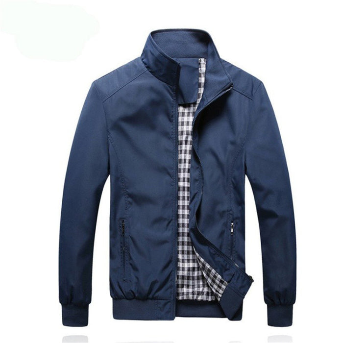 Autumn Men's Zipper Thin Jacket Collar Casual Jacket