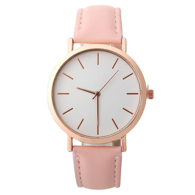 """Donatella"" Leather Quartz Watch"