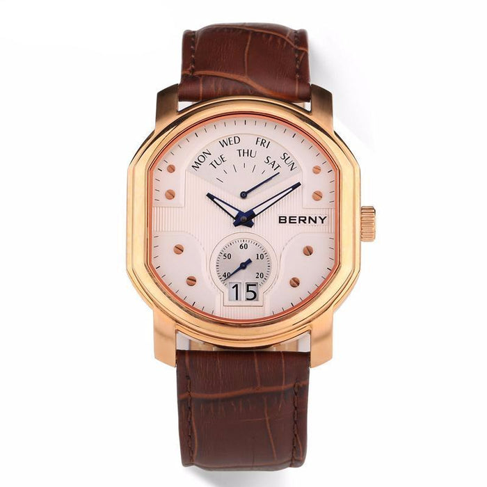 "Watch - ""Berny"" Luxury Leather Watch"