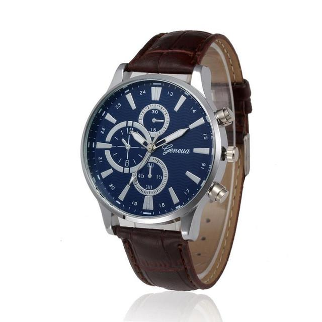 "Watch - ""Manchester"" Leather Quartz Watch"