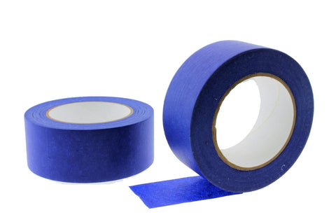 "2x 2"" Blue Painters Masking Tape Walls Trim Floor Auto Glass UV Outdoor 21 Day"