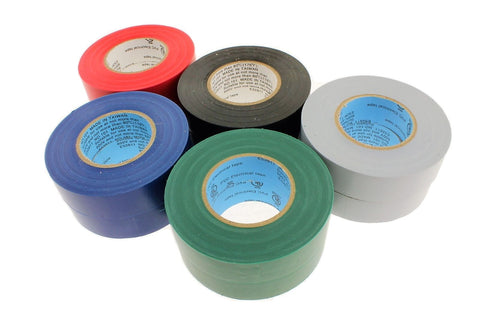 10 LEAD FREE Electrical Tape UL Colored Black Gray Blue Red Green Color Coding
