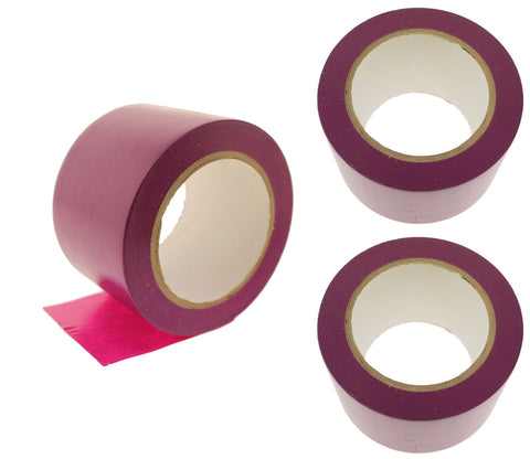 "3x 3"" Purple PVC Rubber Vinyl Tape Electrical Sealing Floor OSHA Safety Marking"