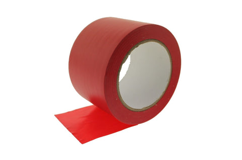 "3"" Red PVC Rubber Vinyl Tape Electrical Sealing Floor OSHA Safety Marking 36y"