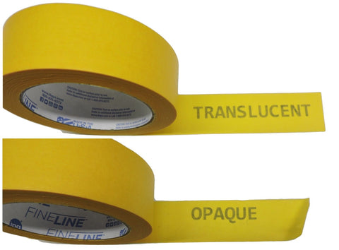 "3x IPG 2"" Yellow Clean Release Fine Line Razor Precision Painters Masking Tape"