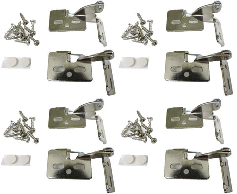 "8 Self Closing Hidden Concealed Cabinet Hinge 3/8"" Inset Nickel Youngdale #4"