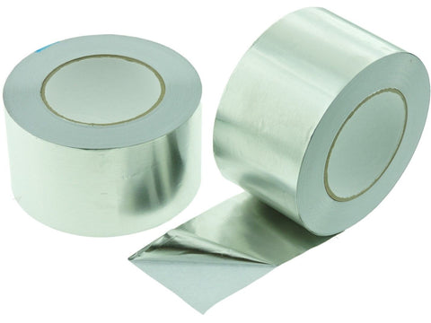 "2x 3"" HVAC Heating A/C Duct Sealing High Temp Adhesive Aluminum Foil Tape 50yd"
