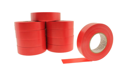"10pk 3/4"" .75 Red Heavy Electrical Tape Wiring Labeling PVC Vinyl Contractor"