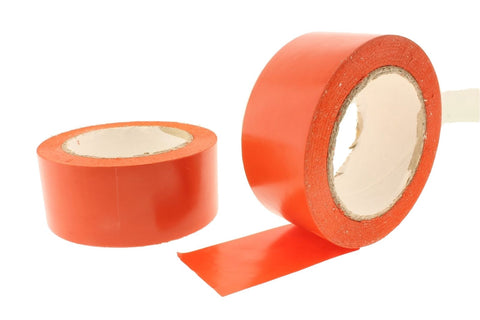 "2x 2"" Orange Removable Adhesive PVC Striping Vinyl Electrical Marking Floor Tape"