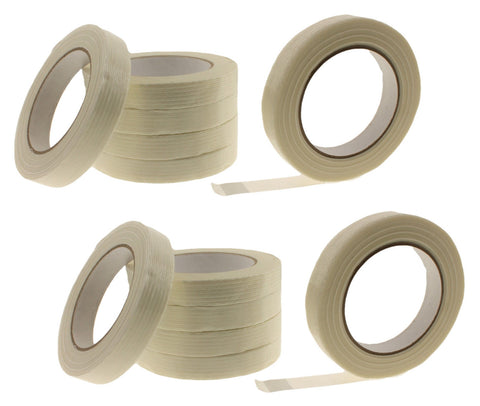 "12x 3/4"" Fiberglass Reinforced Strapping Filament Tape Packaging Moving Bundling"