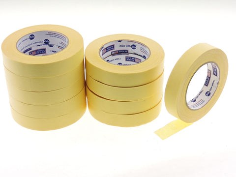 "*SALE* 10pk QUALITY USA MADE 1"" IPG Lemon Yellow Painters Masking Trim Edge Tape"