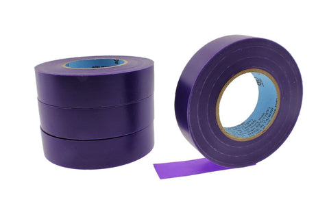 "4pk 3/4"" .75 PURPLE Heavy Electrical Tape Wiring Labeling PVC Vinyl Contractor"