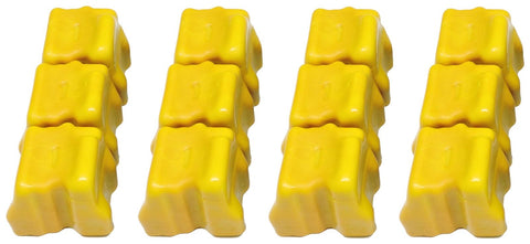 12x NON-OEM 8560 8560DN 8560MFP YELLOW XEROX PHASER SOLID INK STICK 108R00725