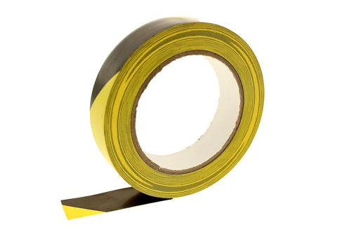 "1"" Black Yellow Insulated Adhesive Striping Vinyl Electrical Tape 36 yard"