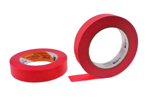 "2x 1"" Red Painters Masking Tape Painting Home Crafts Scrapbooking School Office"