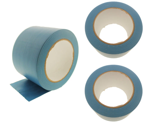 "3x 3"" Light Blue Rubber Vinyl Tape Electrical Sealing Floor OSHA Safety Marking"