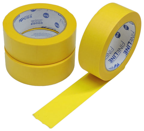 "3x IPG 1.5"" FINELINE Yellow Clean Release Razor Precision Painters Masking Tape"