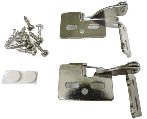 "2 Self Closing Hidden Concealed Cabinet Hinge 3/8"" Inset Nickel Youngdale #4"