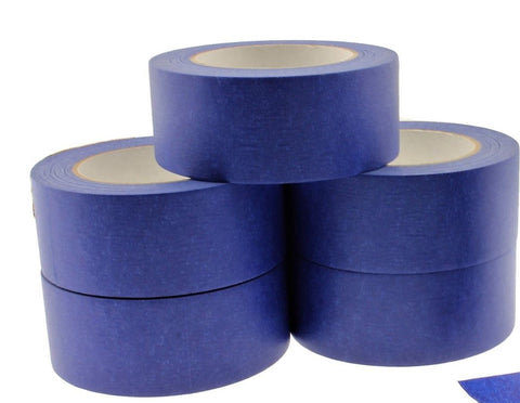 "5x 2"" Blue Painters Masking Tape Walls Trim Floor Auto Glass UV Outdoor 21 Day"