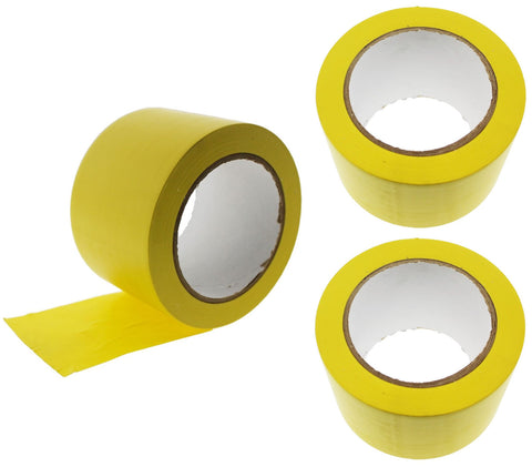 "3x 3"" Yellow PVC Rubber Vinyl Tape Electrical Sealing Floor OSHA Safety Marking"