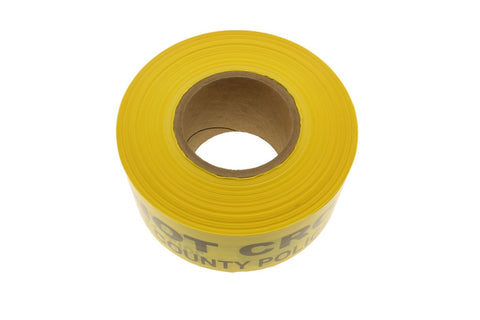 "3"" POLICE CRIME SCENE Yellow and Black Caution Barricade Novelty Tape 1000'"