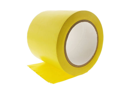 "4"" Yellow Insulated Adhesive PVC Pin Striping Vinyl Electrical Tape 36 yard"