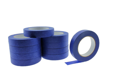 "10x 1"" Blue Painters Masking Tape Walls Trim Floor Auto Glass UV Outdoor 21 Day"