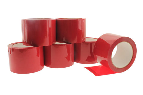 "6x 3"" Red House wrap Sheathing Tape Building Contractor Sealing Seaming to Tyvek"