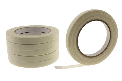 "6x 1/2"" .5 Fiberglass Filament Tape Strapping Shipping Bundling Secure Wrap 60yd"