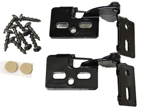 "2 Self Closing Hidden Concealed Cabinet Hinge 1/2"" Overlay Black Youngdale #6"