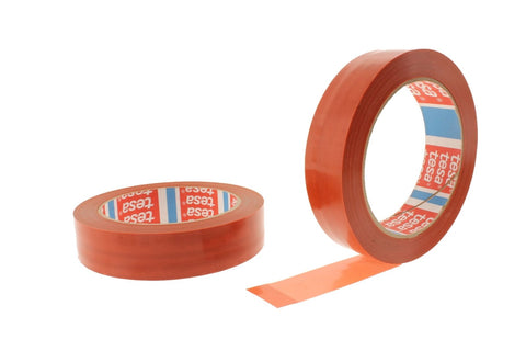 "2pk 1"" Red Transparent Fiberglass Reinforced Packaging Strapping Appliance Tape"