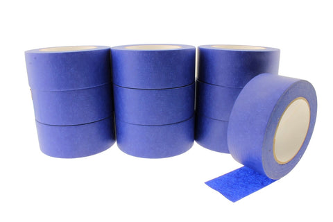"10 QUALITY USA MADE 2"" Blue Trim Edge Painters Tape Masking 180' 60 yd roll"