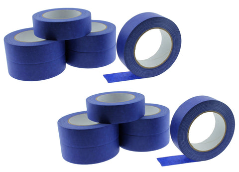 "12 1.5"" Blue Painters Masking Tape Walls Trim Floor Auto Glass UV Outdoor 21 Day"