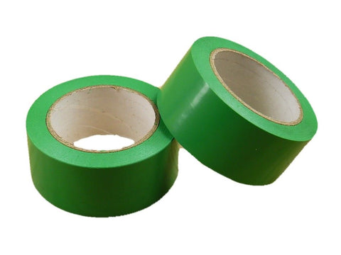 "2pk 2"" Green Insulated Adhesive PVC Pin Striping Vinyl Electrical Tape 36yd"