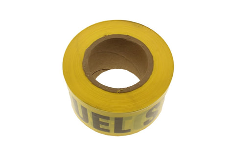 "3"" FUEL STORAGE Yellow and Black Caution Barricade Novelty Tape 500 ft"