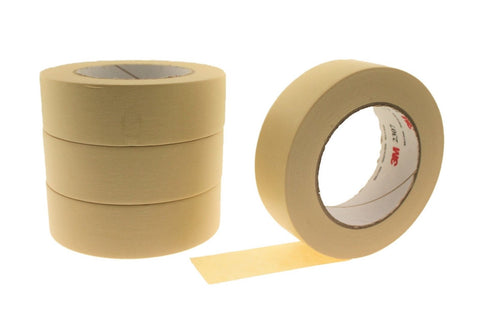 "4pk QUALITY USA MADE 1.5"" All Purpose Woodworking Cream Masking Trim Edge Tape"