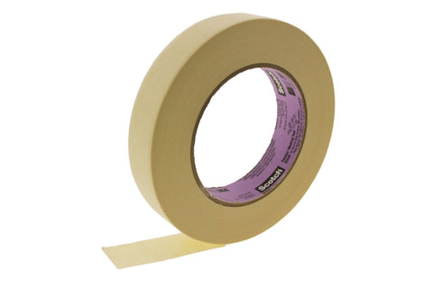 "6pk USA MADE Solvent Resistant 1"" High Performance Cream Masking Trim Edge Tape"
