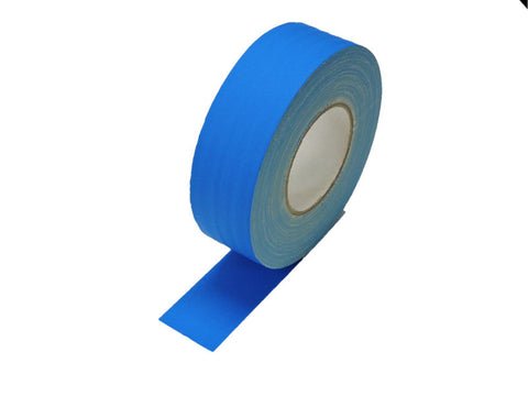 "2"" Light Blue Gaffers Tape Floor Stage Show Audio Video Gaff Cord Hold Down 60yd"