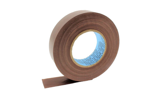 "10pk 3/4"" .75 BROWN Heavy Electrical Tape Wiring Labeling PVC Vinyl Contractor"