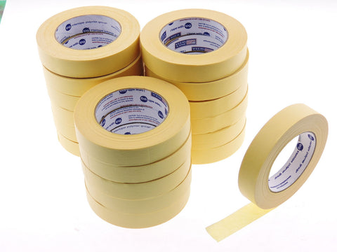 "*SALE* 18pk QUALITY USA MADE 1"" IPG Lemon Yellow Painters Masking Trim Edge Tape"