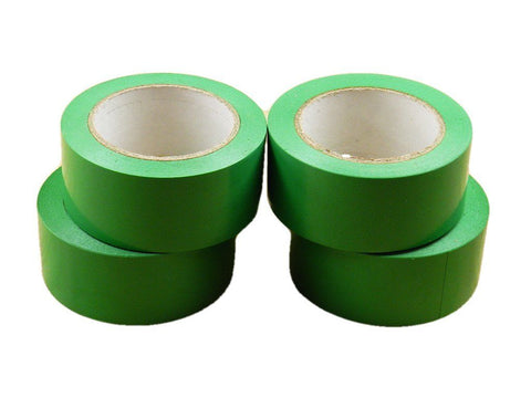 "4pk 2"" Light Green Insulated Adhesive PVC Pin Striping Vinyl Electrical Tape 36y"