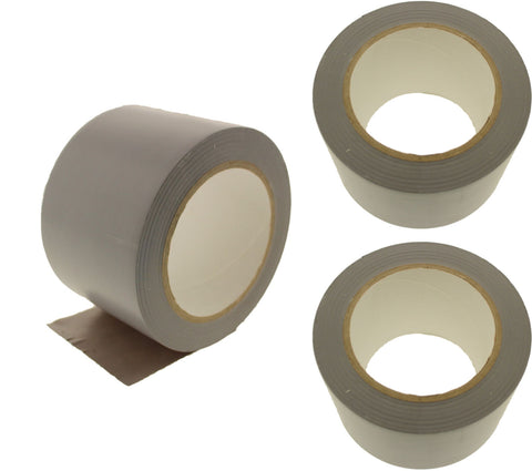 "3x 3"" Gray PVC Rubber Vinyl Tape Electrical Sealing Floor OSHA Safety Marking"